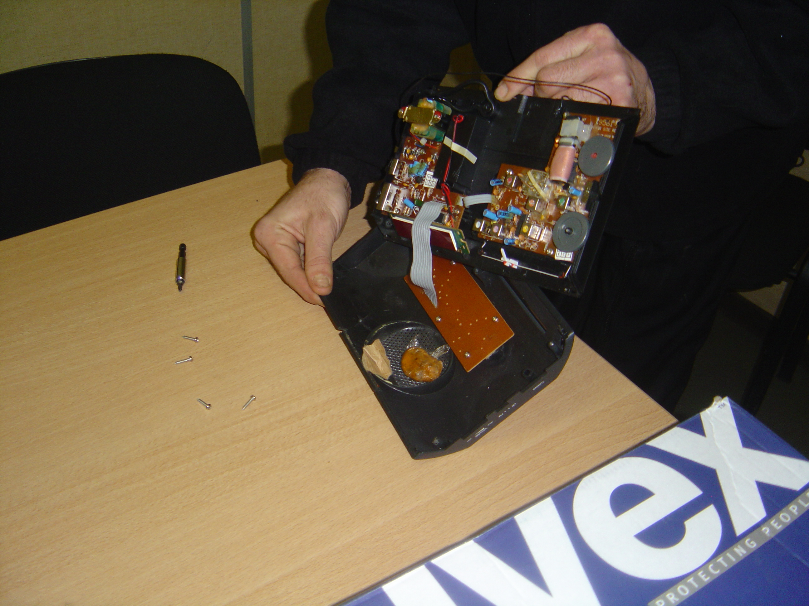 Préparation d'un entrainement à la détection d'explosifs